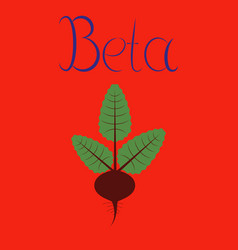 Flat on background plant beta vector