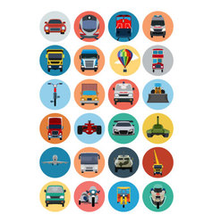 Flat Transport Icons 2 vector image