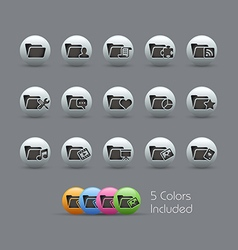 Folder Icons 2 Pearly Series vector image
