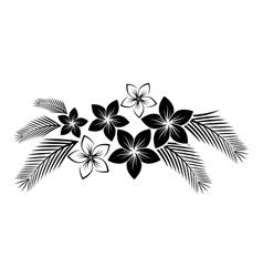 frangipani border vector image