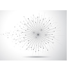 Global network connect on white background vector