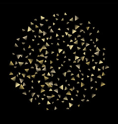 golden falling confetti triangles vector image
