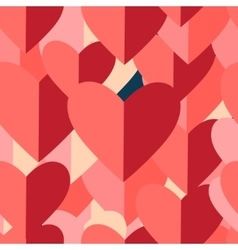 Graphic pattern of red hearts vector
