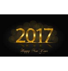 Happy New Year 2017 background vector image