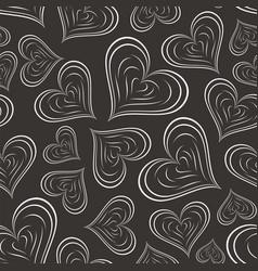 heart seamless pattern vector image