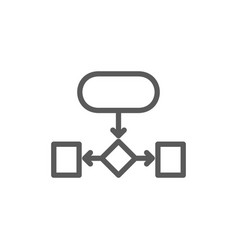 Hierarchical structure auxiliary chart line icon vector