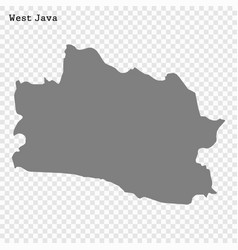 high quality map is a province indonesia vector image
