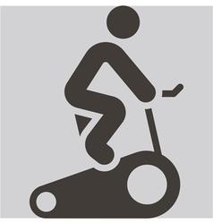 Indoor cycling icon vector