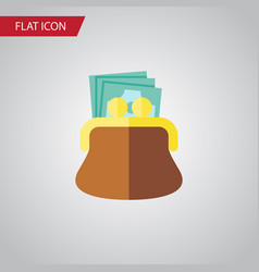 isolated payment flat icon pouch element vector image