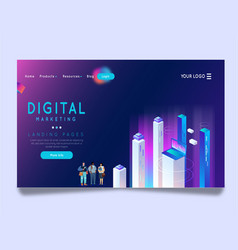 Landing page vector