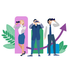 metaphor of employee search people search in vector image