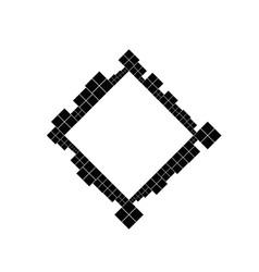 Minimal geometrical monochrome diagonal square vector