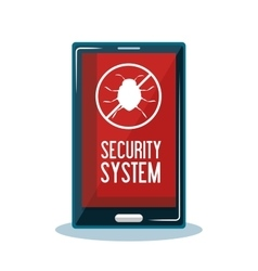 mobile security system protection vector image