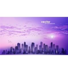 Modern night city skyline vector image