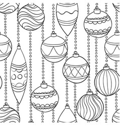 monochrome black and white seamless pattern with vector image