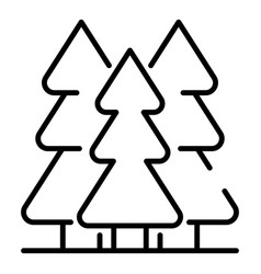 mountain fir tree icon outline style vector image