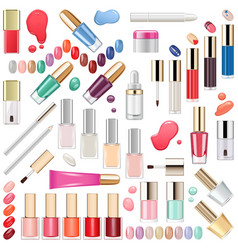 nails makeup cosmetics vector image