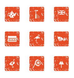 New light icons set grunge style vector