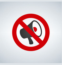 no megaphone or no speaker area sign vector image