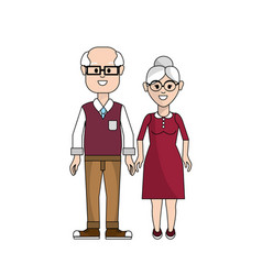 Old couple with glasses icon vector
