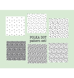 polka dot fabric sample assorted set of dotted vector image