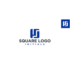 ps or pj square logo design inspiration vector image