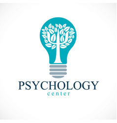 Psychology concept logo or icon created with vector