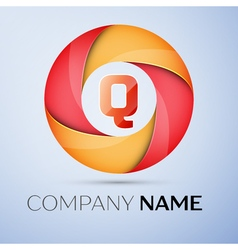 Q letter colorful logo in the circle template for vector
