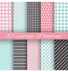 Retro chic seamless pattern vector