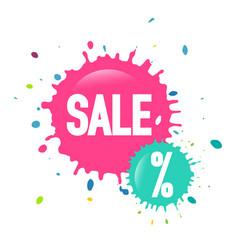 sale web icon - discount splashes labels vector image