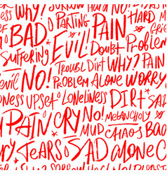 Seamless pattern with bad words vector