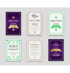 Set of Great Quality Style Invitation in Art Deco vector