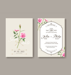 set vintage wedding cards save date vector image