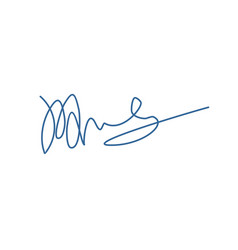 Signature isolated on white background template vector