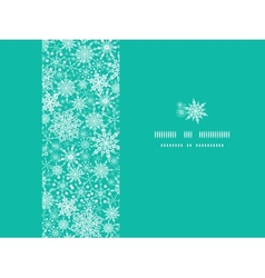 Snowflake Texture Horizontal Frame Seamless vector image
