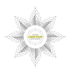 Star geometric symbol art vector
