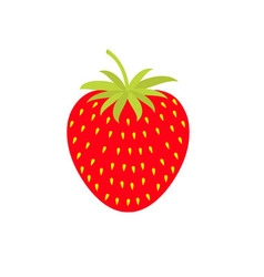 Strawberry icon Isolated White background Flat vector image