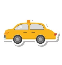 Taxi vehicle service public isolated icon vector