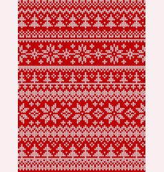 Ugly sweater merry year knitted vector