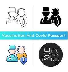 Vaccination priority list icon vector