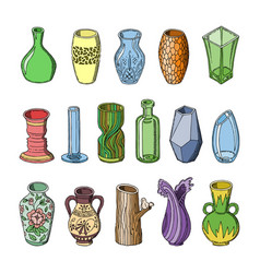 vase decorative ceramic pot design and vector image