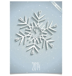 White office snowflake vector image