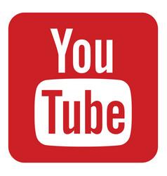 Youtube logo icon vector