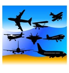 aeroplanes vs vector image vector image