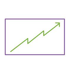board presentation graph arrow growth vector image