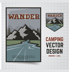 camping adventure travel brochure and vector image