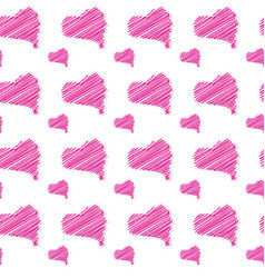 seamless pattern with heart shapes love concept vector image vector image