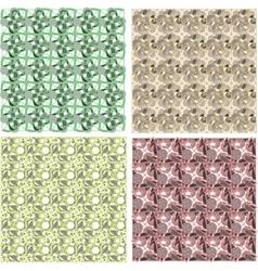 set of arabesque pattern frame border vector image
