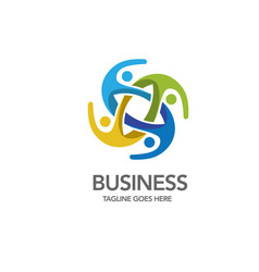 social community logo vector image