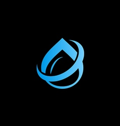 water drop aqua abstract logo vector image